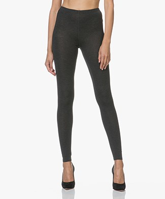 Majestic Soft Touch Jersey Leggings - Anthracite Melange