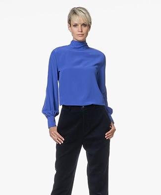 Closed Holi Silk Bow Blouse - Japanese Blue
