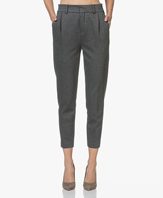 Drykorn Find Tapered Jersey Pants - Dark Grey Melange