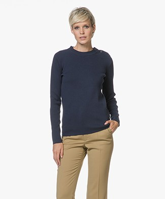 Petit Bateau Iconic Cotton Pullover - Smoking