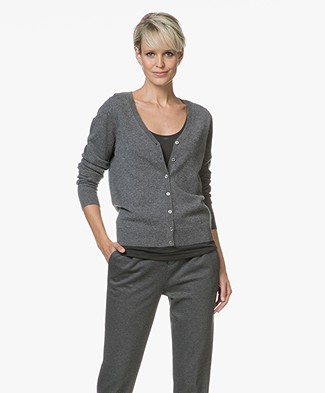Repeat Cashmere V-hals Vest - Medium Grijs