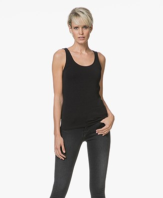 Filippa K Cotton Stretch Tanktop - Zwart