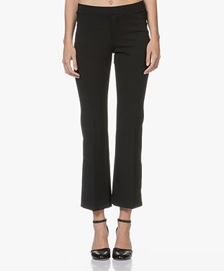 Filippa K Poe Cropped Jersey Pants - Black
