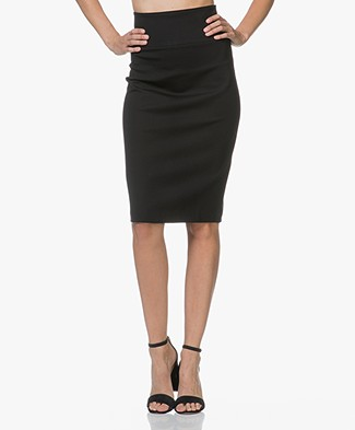 Filippa K High Waisted Kokerrok - Zwart