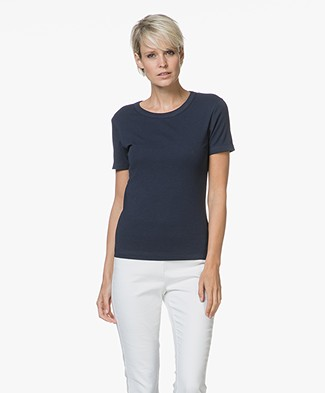Petit Bateau Basic T-shirt in Katoen - Smoking