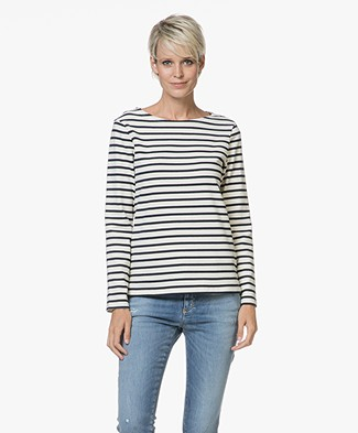 Petit Bateau Trust Striped Pullover - Coquille/Smoking