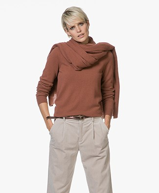 Repeat Cashmere Sjaal - Brick
