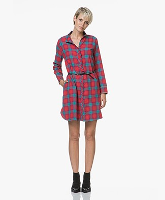 Zadig & Voltaire Ramara Carreaux Dress - Rouge Red