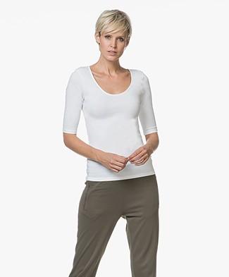 Filippa K Cotton Stretch Scoop Neck T-Shirt - White