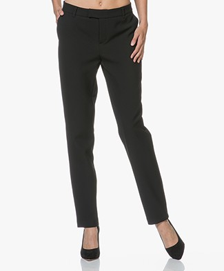 LaSalle Taps Toelopende Pantalon - Zwart