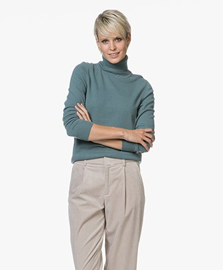 Repeat Cashmere Fine Knitted Turtleneck Pullover - Lake