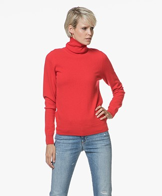 Repeat Cashmere Fine Knitted Turtleneck Pullover - Red