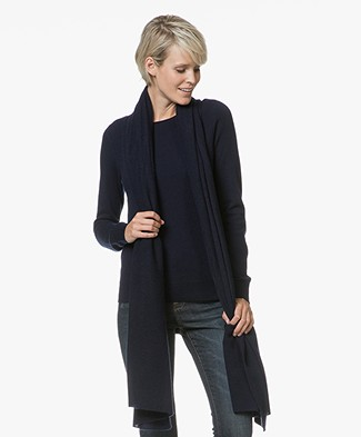 Repeat Cashmere Sjaal - Navy