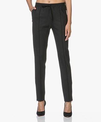 Joseph New Dallas Comfort Wool Pantalon - Zwart