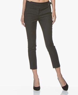 ba&sh Bango Pinstripe Pants - Anthracite