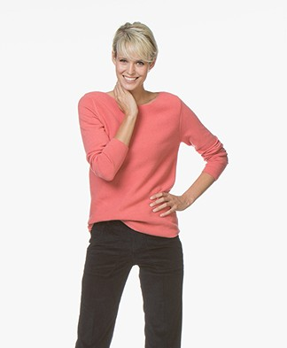 Belluna Como Boat Neck Sweater - Abricot