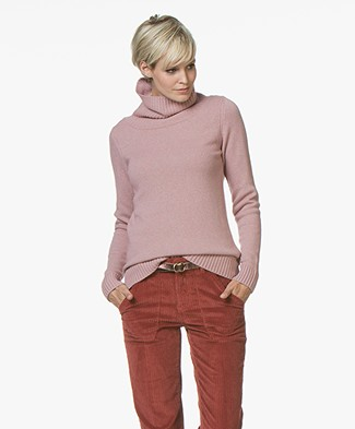 Belluna Robin Fine Knit Sweater with Cashmere - Old Pink