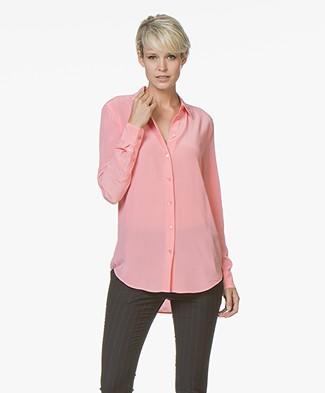 Equipment Essential Silk Blouse - Pop Pink