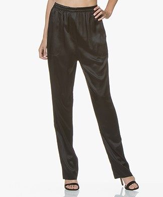 Extreme Cashmere N°71 Silk Satin Pants - Black
