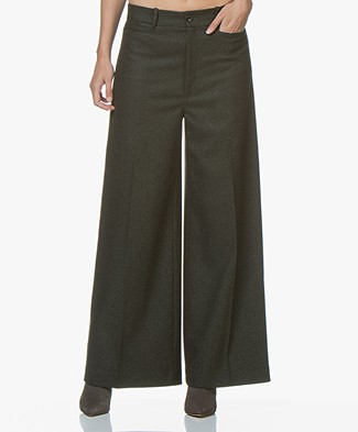 Joseph Dana Herringbone Pants - Military