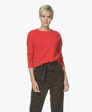 Zadig & Voltaire Cici Patch Cashmere Pullover - Rouge Red