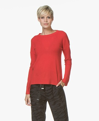 Zadig & Voltaire Cici Patch Cashmere Trui - Rouge Red