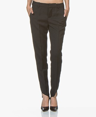 Zadig & Voltaire Prune Agrafes Pants - Black
