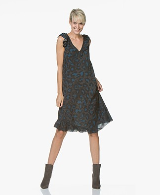 Zadig & Voltaire Rebelle Leo A-line Dress - Anthracite