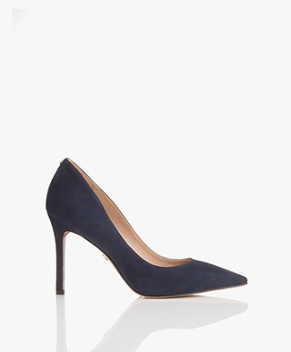 Sam Edelman Hazel Kid Suede Heels - Baltic Navy