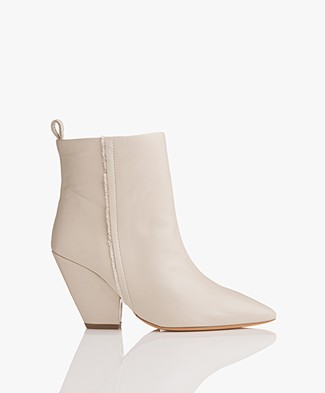 IRO Landy Leather Ankle Boots - Ecru