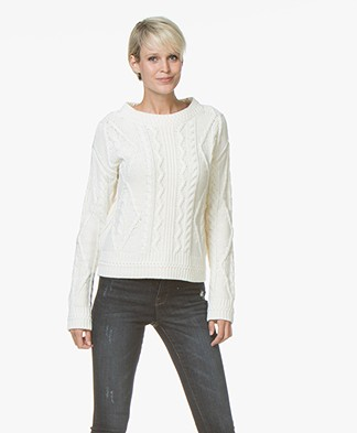 Josephine & Co Joris Cable Knit Pullover - Off-white