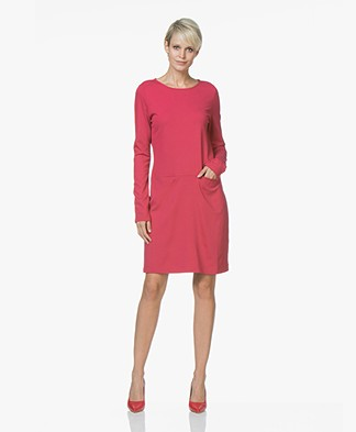 no man's land Punto di Milano Jersey Dress - Ruby