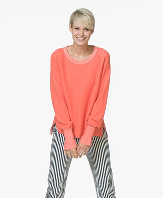 Josephine & Co Jamiel Cotton Blend Pullover - Coral