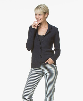 Belluna Fadini Gebreide Blazer - French Blue