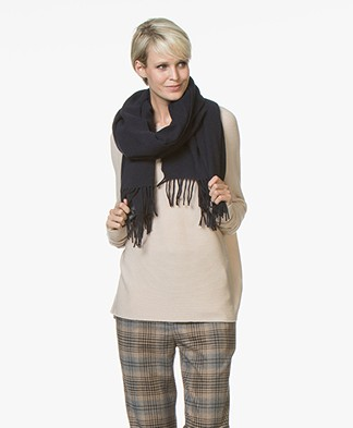 Drykorn Abadi Woolen Scarf - Dark Blue