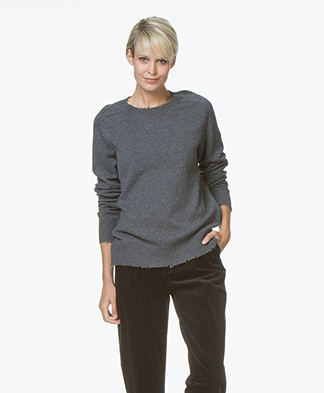 Drykorn Cady Distressed Sweater - Dark Grey