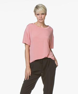 Drykorn Kyla Cupro T-shirt - Roze