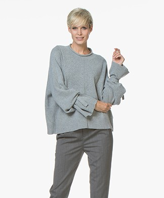 Drykorn Laureen Tie Cuff Sweater - Grey