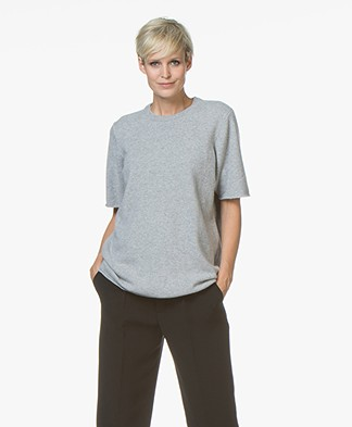 extreme cashmere N°64 Long Knitted T-shirt - Grey