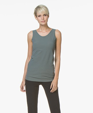 JapanTKY Iyo Reversible Jersey Tank Top - Army Green