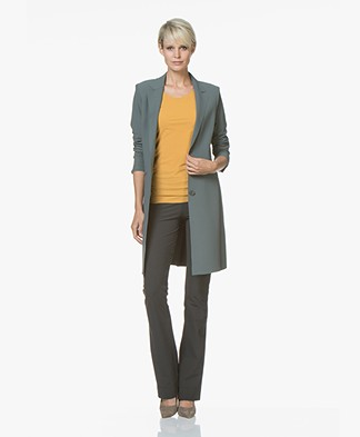 JapanTKY Luna Lange Jersey Blazer - Legergroen