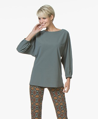 JapanTKY Yoyo Travel Jersey Blouse - Army Green