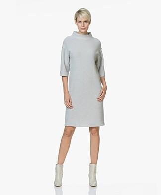 Josephine & Co Jenetta Knitted Turtleneck Dress - Silver Grey