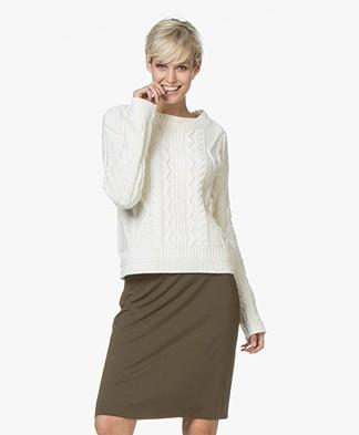 Josephine & Co Joris Cable Knit Pullover - Off-white