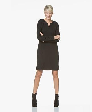 no man's land Jersey Tunic Dress - Core Black