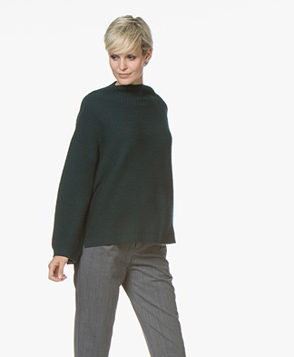 no man's land Woolen Sweater - Dark Emerald