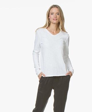 American Vintage Sonoma V-neck Sweater - White