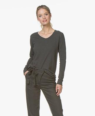 American Vintage Sonoma V-neck Sweater - Vintage Black