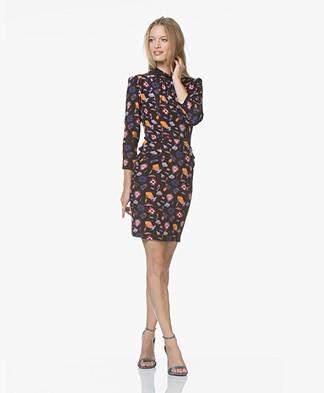 ba&sh Maha Floral Print Dress - Black