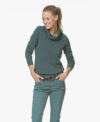Belluna Broome Wool Blend Turtleneck Pullover - Green